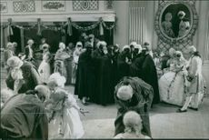 "A scene from the film ""Two Kings"", 1925."