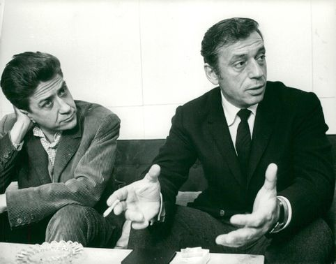 Yves Montand together with director Alain Resnais