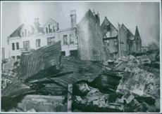 War damage during the Norwegian Campaign  1940