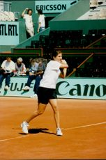Monica Seles in French open