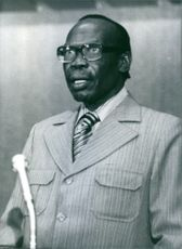 Portrait of Botswana Politician Sir Seretse Khama, 1978.