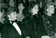 Mikhail Baryshnikov and Brooke Shields at Valentino's Fashion Show at the Metropolitan Museum of Art