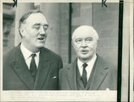 Viscount William Whitelaw with Lord Grey