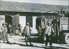 German Soldiers On Their Way To Allied Prison Camp. 1941