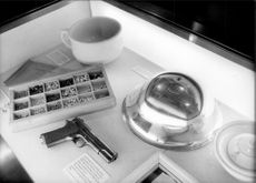 """Detailed image from the """"War Cabinet Room"""", now a museum in London, which was opened in the spring of 1984."""