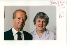 Mr Lawrence Perkins with his wife.