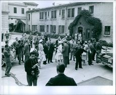 Princess Margaretha being welcomed by the people in street.1960