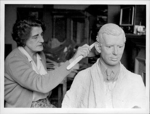 One of the sculptors in work on the Duke of Kent on Madame Tussaud's wax cabinet