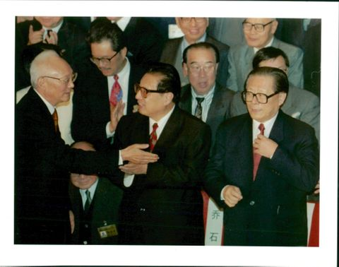 Jiang Zemin Former General Secretary of the Communist Party of China with qia shi.