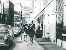 Ladies on the street. This photo is from Prince Charles folder in an old press archive.