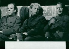 "Bengt Virdestam, Göran Järvefelt and Axel Düberg in ""Sun, what do you want me?"""