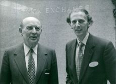 William Batten with Nicholas Goodison at the Stock Exchange in London. 1980.