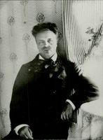 Portrait picture on August Strindberg taken in an unknown context.