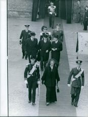 Princess Alexandra, in the funeral ceremony.