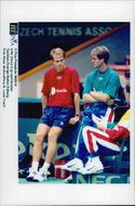 Stefan Edberg faces the semi-finals between Sweden and the Czech Republic in the Davis Cup 1996