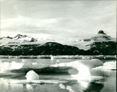 A view of a melted  ice , 1962.
