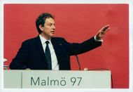 Tony Blair, UK Prime Minister. PES congress in Malmö