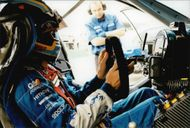 Rickard Rydell makes the final preparations for the BTCC competition on Brands Hatch.