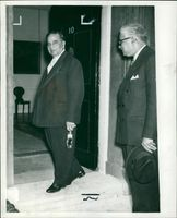 Mr. Suhrawardy with Mr. Macmillan.