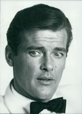 Roger Moore in a portrait.