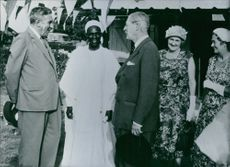 1960  Macmillan in Nigeria: With the Governor-General and the Federal Premier
