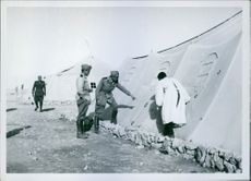 North Africa: Italian field hospital, as machine gun fired by British aviation notwithstanding the clear Red Cross signs