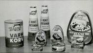Various kinds of canned goods, 1957