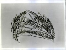 A diamond diadem included in the collection of Russian crown jewels.