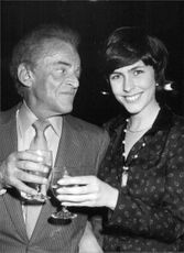Alan Jay Lerner with his girlfriend Liz Robertson.
