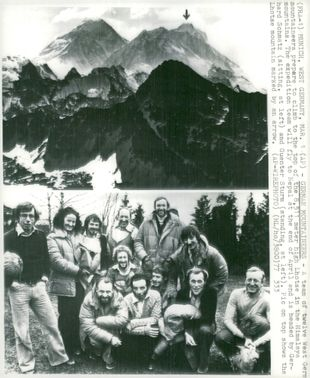 The German expedition to climb Lhotse in the Himalayas