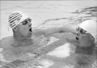 Sims Per Johansson and Pelle Holmertz will be one and two in 100 m freestyle during Sim-SM 1982