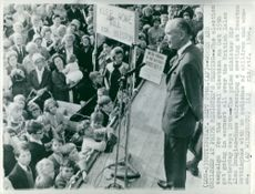 British Prime Minister Sir Alec Douglas-Home speaks during the election campaign