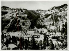 Overview of the terrain in the Winter Olympics 1960