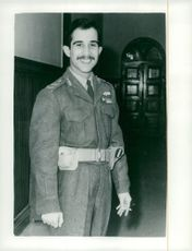King Hussein of Jordan in his uniform