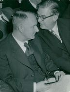 Gunnar Hedlund, the center party leader, here with Engel