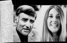 Photography on actor Peter Lawford along with his fiancee Mary Rowan.