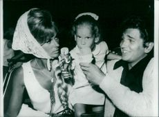 Michael Landon with his wife Lynn and daughter