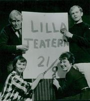 "The Little Theater's ""Co-Directors"", t.v. Monica Nielsen and Björn Gustafson, t.h. Helena Brodin and Per Myrberg"