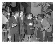 King Baudouin of Belgium and Queen Fabiola during an official visit to Morocco