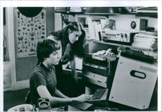 """A photo of Matthew Broderick as David Lightman and Ally Sheedy as Jennifer Mack in the film """"WarGames"""". 1993."""
