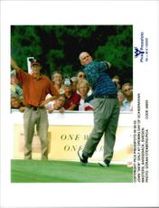 Golf player John Daly on the first day of Scandinavian Open 1995