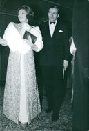 Beatrix of the Netherlands is seen with her husband Prince Claus, they are looking at something with smiling face
