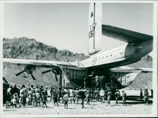 The first landing ever made  by a B everley aircraft.