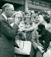 Britain's Prime Minister Sir Alec Douglas-Home during the election campaign