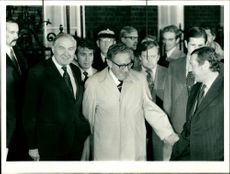 Dr. Henry Kissinger with Mr. Callaghan.