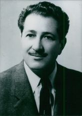 Portrait of Jordanian politician Saad Juma, 1966.