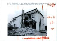 Rose hitchings: the wrecked front of the semi.