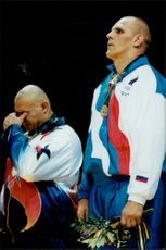 Alexander Karelin defeated American Matt Ghaffari in wrestling during the Olympic Games in Atlanta