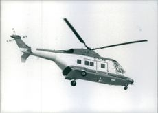 The Westland 30 taking off. 1986.