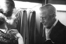 Prince Edward and Wallis, the Duke and Duchess of Windsor having a conversation.